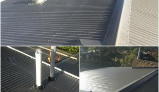 Castlemaine re-roof colorbond